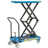 Tavola elevatrice a doppia forbice - Capacità di sollevamento 125 kg