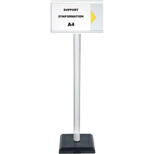 Paletto con pannello informativo A4 PVC - Premium