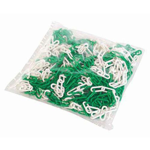 Catena in plastica in sacco - Bianco/verde