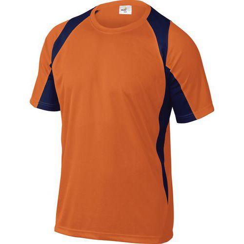 T-shirt da lavoro Bali - Arancione/blu