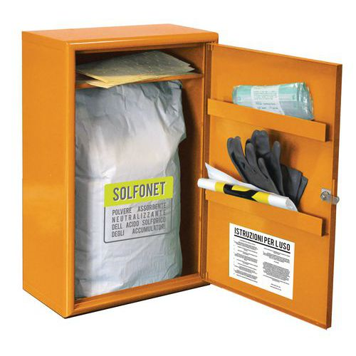 Armadio Solfonet - Kit d'emergenza per sversamento acido solforico 8 L