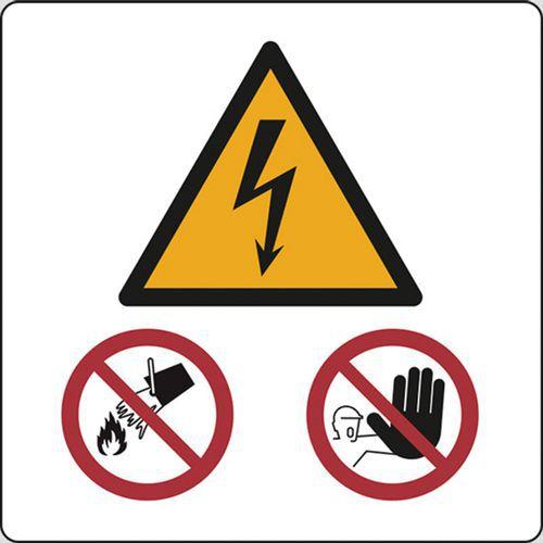 scaricare la consegna stile squisito marchio famoso Cartello di pericolo - cabina elettrica