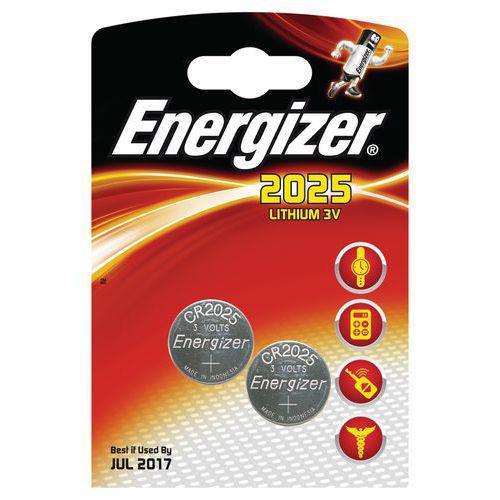 Pila al litio per calcolatrice - CR2025 - Lotto da 2 - Energizer
