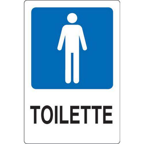 Cartello di indicazione toilette uomini manutan italia - Cartello bagno donne ...