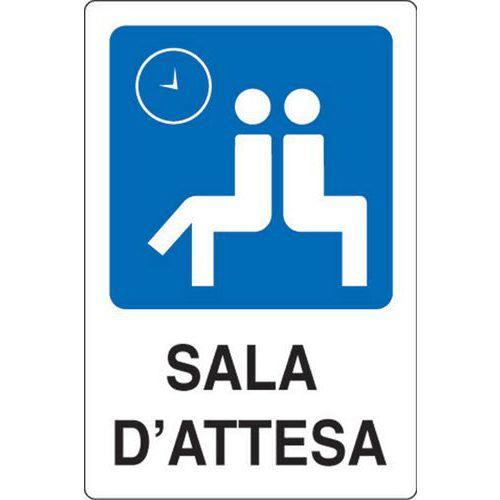 In Sala D Attesa.Cartello Di Indicazione Sala D Attesa Manutan Italia