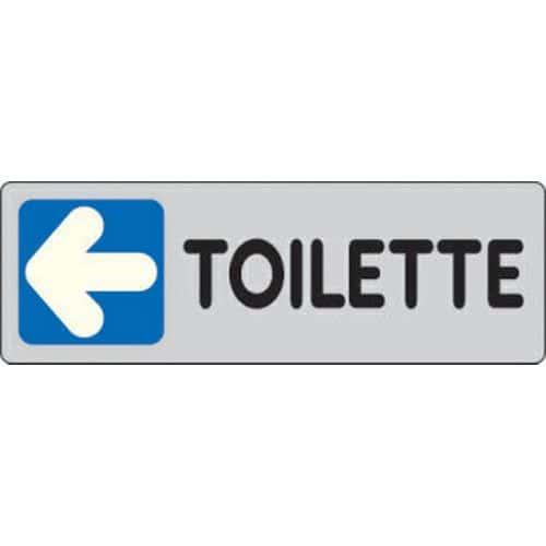 Targhetta per interni toilette freccia a sinistra manutan italia - Toilette da bagno ...