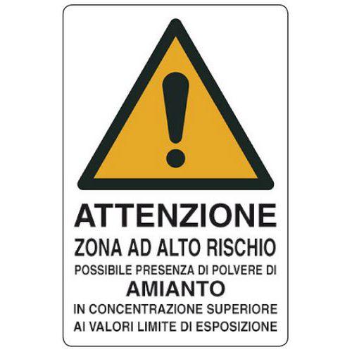 Cartello di pericolo attenzione zona ad alto rischio for Alto pericolo il tuo account e stato attaccato