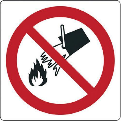 """Risultato immagini per non utilizzare acqua su cartello"""""""