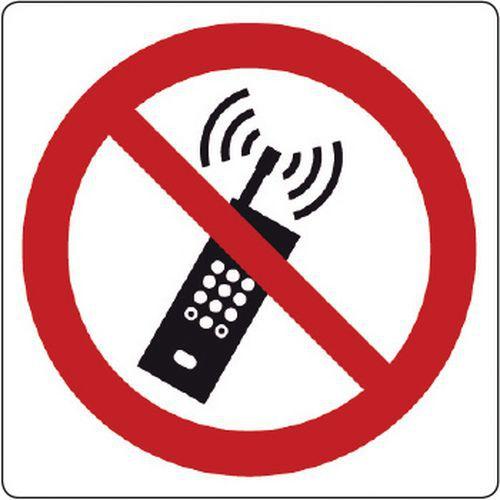 Cartello di divieto - vietato l'uso dei telefoni cellulari