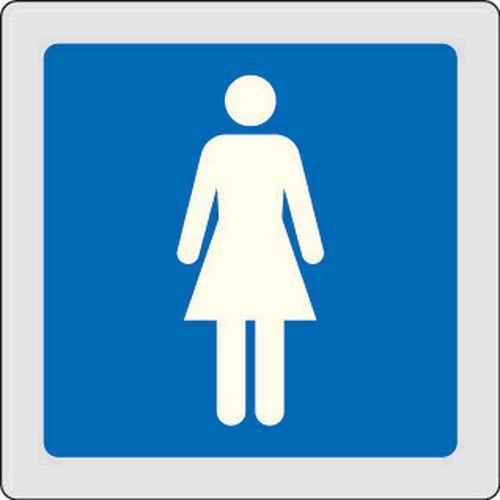 Cartello di indicazione in plexiglas toilette donne - Cartello bagno donne ...