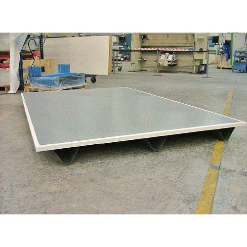 Pavimento pallettizzabile per cabine a doppia parete in lamiera o lamiera/melammina