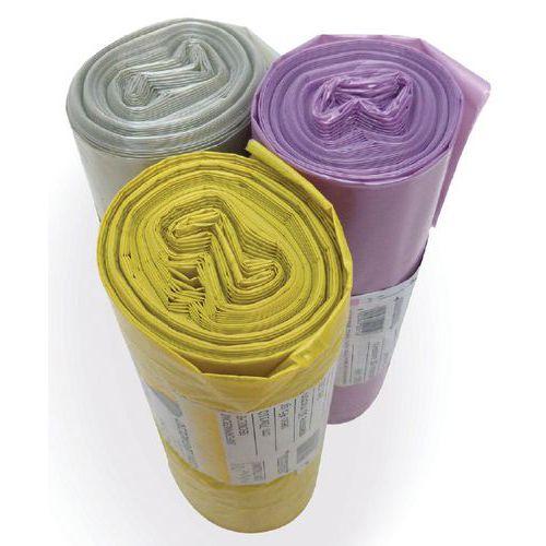 Sacco per rifiuti in LDPE riciclato con legaccio - Per raccolta differenziata - 120 L