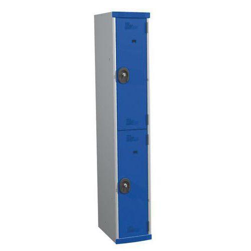 Armadietto spogliatoio 2 scomparti Seamline® - Colonna larghezza 300 mm - Su base