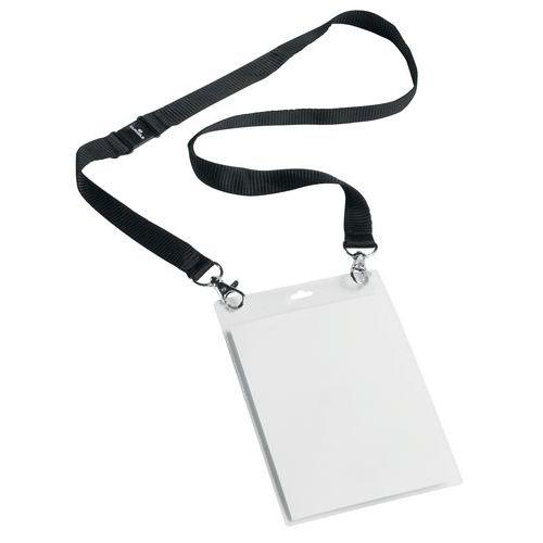Porta-badge per eventi - Con laccetto in tessuto