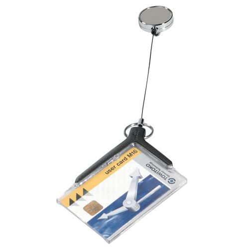 Porta badge Deluxe Pro con chiocciola yo-yo, per 1 o 2 tessere