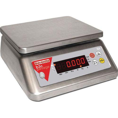 Bilancia compatta interamente in acciaio inossidabile GX - Portata da 3 a 30 kg