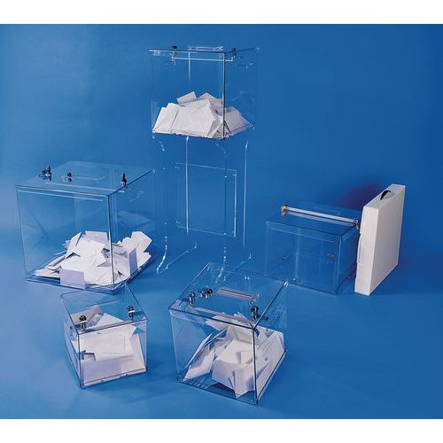 Urna elettorale trasparente - 2.000 schede