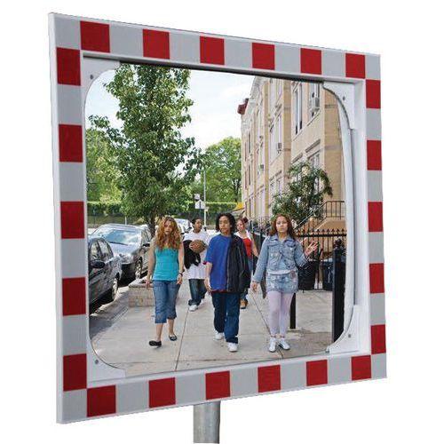 Specchio di sicurezza antiappannamento - Via privata - 90°