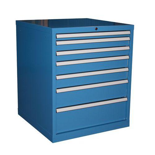 Cassettiera Con 7 Cassetti.Cassettiera Monoblocco Superior Linea Blu Larghezza 71 7 Cm