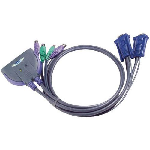 Switch mini kvm 2 porte VGA/PS2