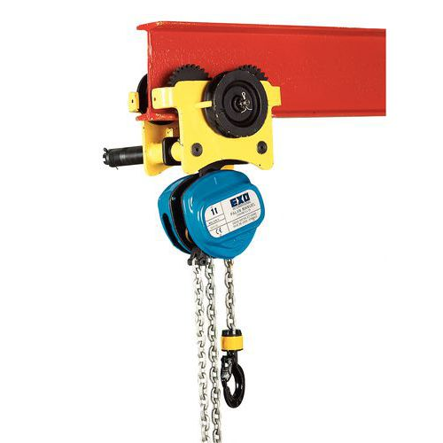 Valex paranco manuale cricchetto 250kg catena sollevatore 1,6mt.