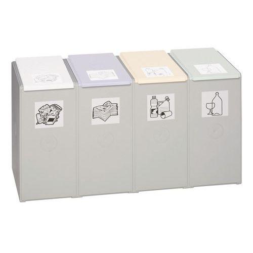 Modulo per raccolta differenziata in plastica - Capacità 1, 2, 3 o 4 x 40 L