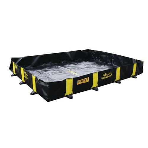 Vasca di ritenzione flessibile portatile Quickberm® con supporti rigidi