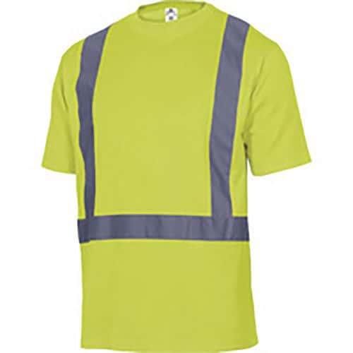 Tee shirt poliestere/cotone alta visibilità