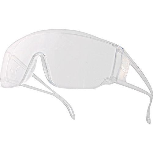 Occhiali visitatori monoblocco policarbonato incolore