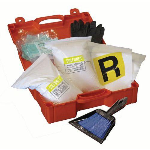 Kit di emergenza trasportabile in caso di perdite di acido solforico