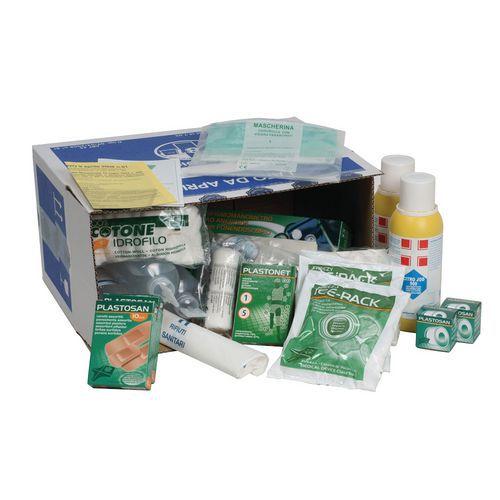 Pacco di reintegro per armadietto o valigetta di primo soccorso - Gruppo A e B - Modello maxi