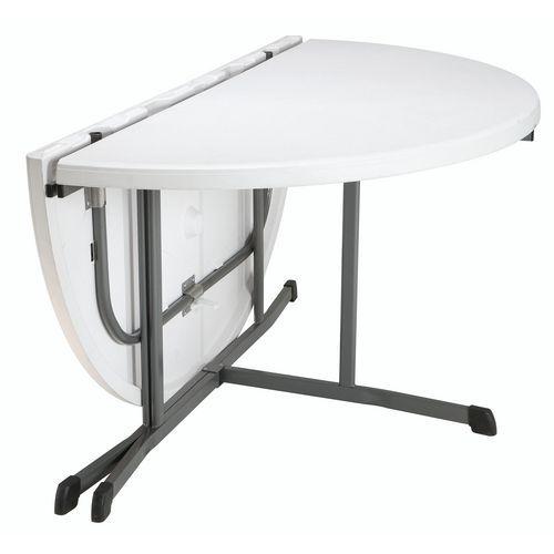 Tavolo rotondo pieghevole in 2 - Base a croce - Lifetime