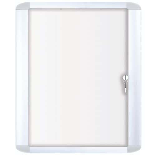 Bacheca per interni Mastervision - Fondo in alluminio - Anta in vetro di sicurezza