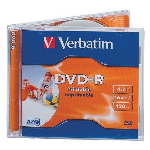 DVD-R stampabile 16X - lotto da 10 Verbatim