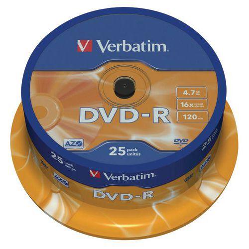 DVD-R - argento opaco 16X - lotto da 25 Verbatim