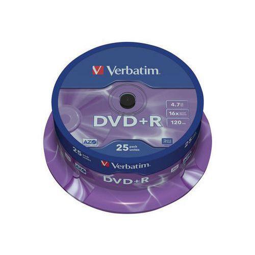DVD+R 16X argento opaco - Lotto da 25 e 50 - Verbatim