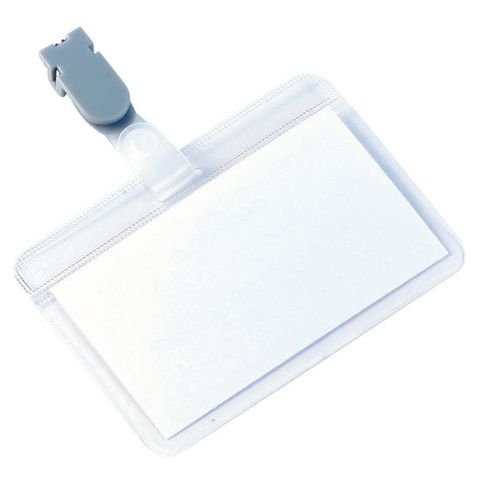Porta-badge autoplastificabile - Con clip
