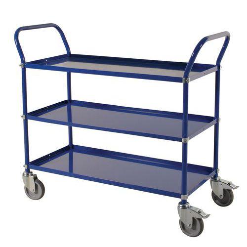 Carrello con ripiani in metallo - 3 piani - Portata 400 kg