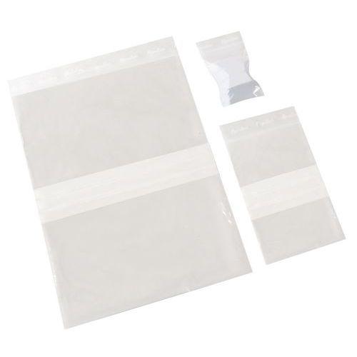 Sacchetti zip con bande bianche 50 µm - Manutan