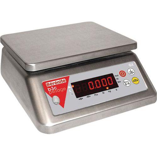 Bilancia compatta interamente in acciaio inossidabile GX - Portata da 3 a 30 kg - B3C