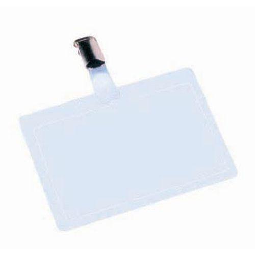 Porta-badge autoplastificabile verticale/orizzontale - Con clip