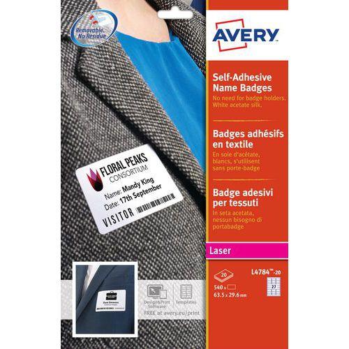 Badge adesivo in tessuto