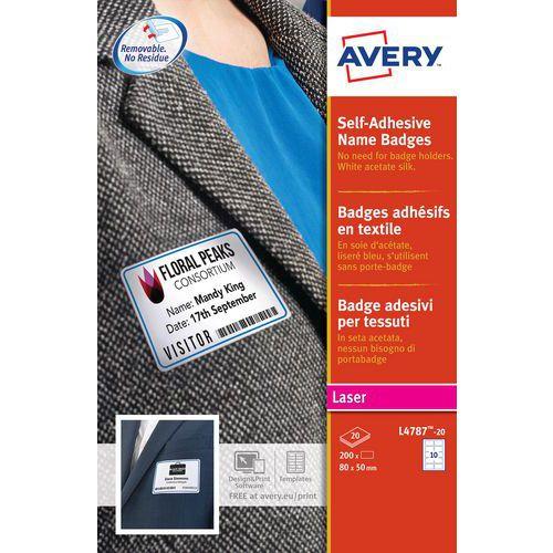 Badge adesivo in tessuto con contorno colorato