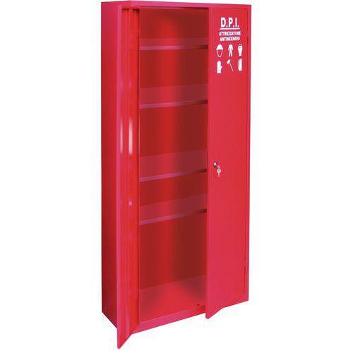 Armadietto alto monoblocco per dispositivi di protezione individuale e  antincendio