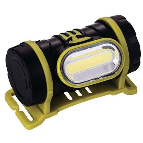 Torcia frontale 2 W a LED COB 150 lm 3XAAA