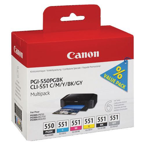 Cartuccia d'inchiostro - PGI-550/CLI-551 - Canon