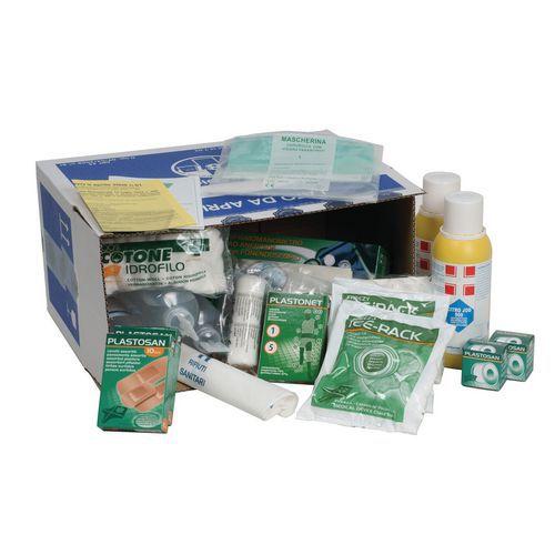 Pacco di reintegro per armadietto o valigetta di primo soccorso - Gruppo A e B - Modello grande