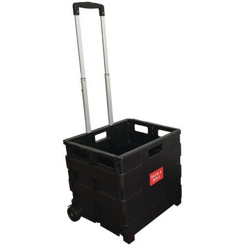 Carrello con contenitore pieghevole - Portata 35 kg - Manutan