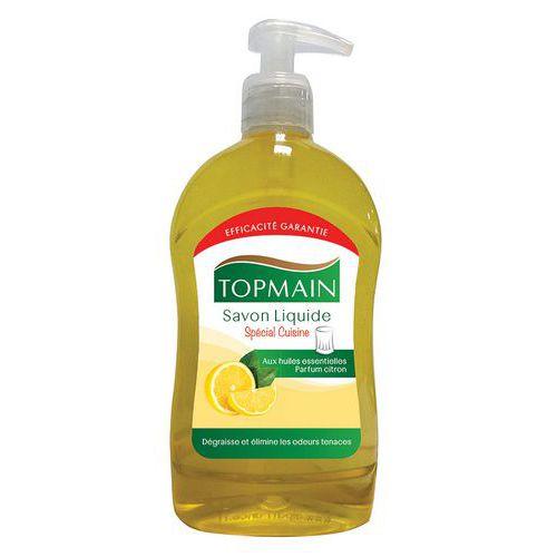 Sapone liquido Topmain per cucina al limone - Flacone a pompetta 500 mL