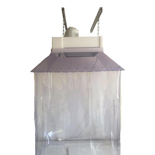 Cappa di aspirazione sospesa con kit strisce in PVC